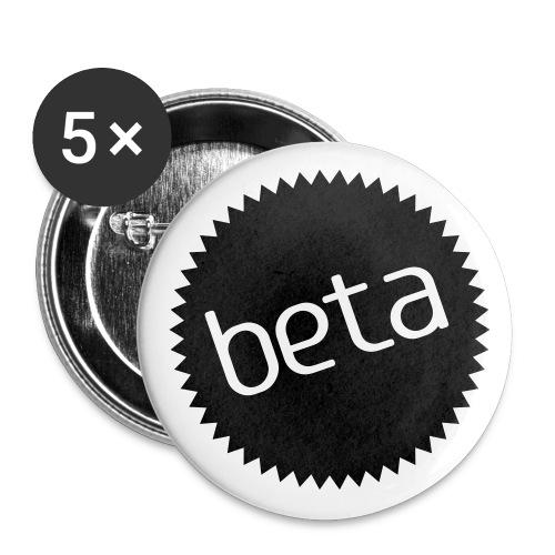 Buttons beta - Stor pin 56 mm (5-er pakke)