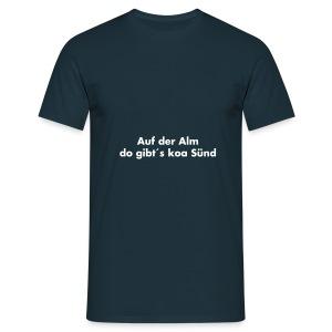 Auf der Alm Weiß - versch. Farben - Männer T-Shirt