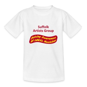 Suffolk Artists Group (White) - Teenage T-shirt