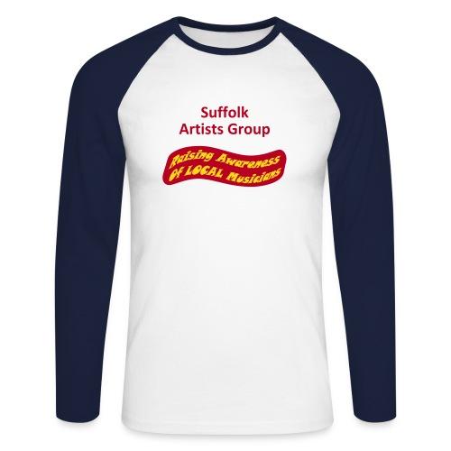 Suffolk Artists Group (Sky/Navy) - Men's Long Sleeve Baseball T-Shirt