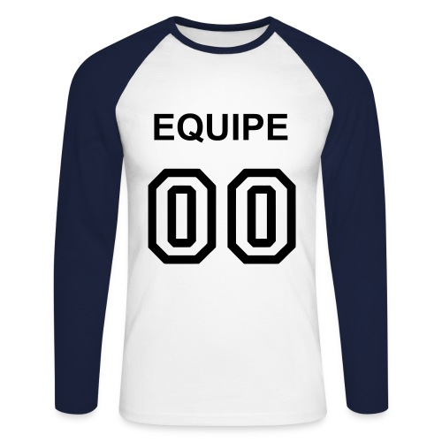 Old school 00 manche long homme - T-shirt baseball manches longues Homme