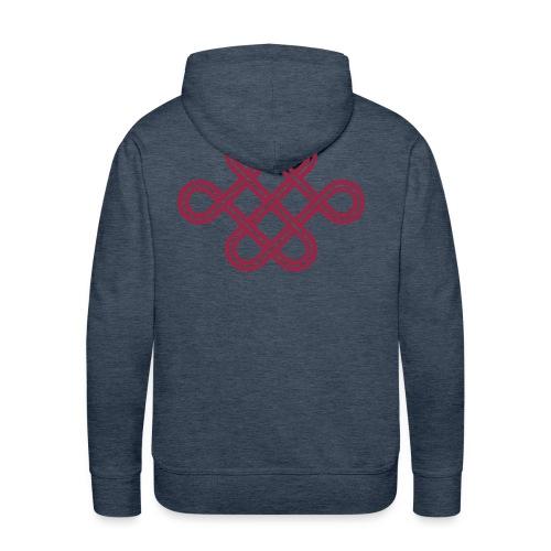 Noeud d'amour sans fin - Sweat-shirt à capuche Premium pour hommes