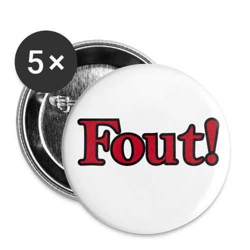 RP Foute Buttons (5-pack) - Buttons middel 32 mm