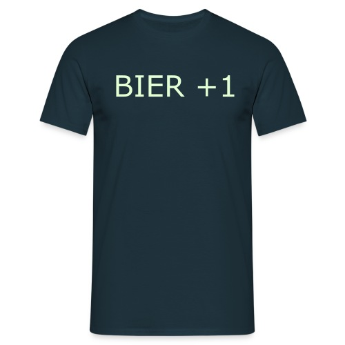 Bier +1 Glow-In-The-Dark - Mannen T-shirt