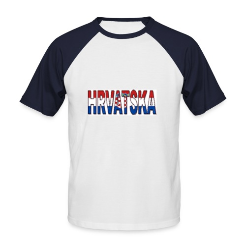 Hrvatska Shirt White/Red - Männer Baseball-T-Shirt
