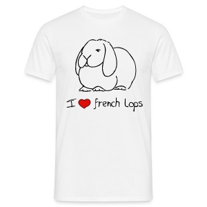 I Love French Lops - Men's T-Shirt