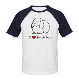 I Love French Lops - Men's Baseball T-Shirt