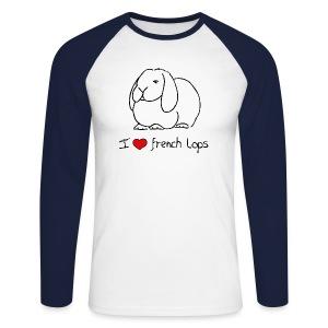 I Love French Lops - Men's Long Sleeve Baseball T-Shirt