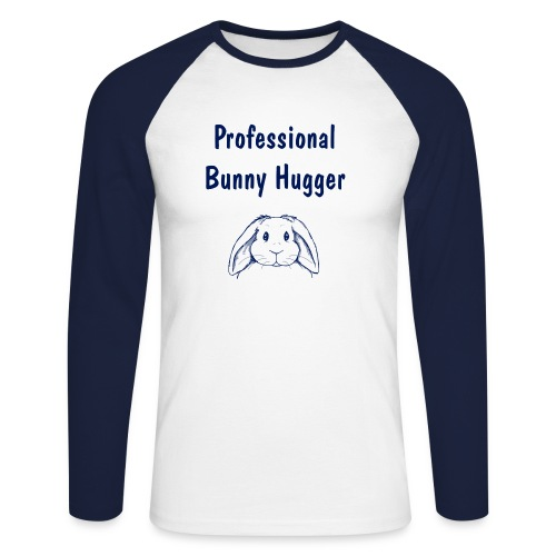 Professional Bunny Hugger - Men's Long Sleeve Baseball T-Shirt