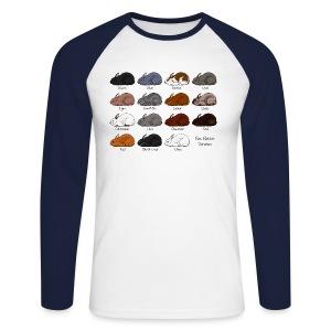Rex Rabbit Colours - Men's Long Sleeve Baseball T-Shirt