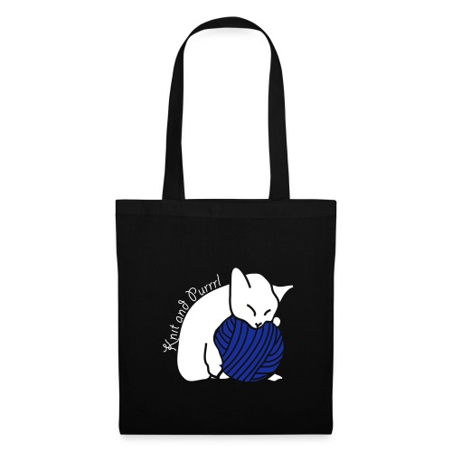 Tote Bag - wolle,stricken,katzen