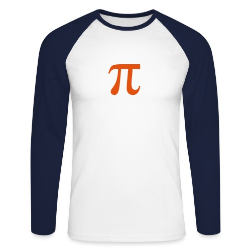 yummy pie. - Men's Long Sleeve Baseball T-Shirt