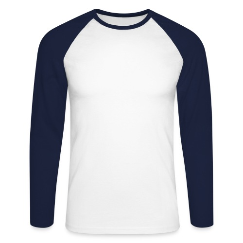 clas. longsl. baseb. t whi/dbl - Men's Long Sleeve Baseball T-Shirt
