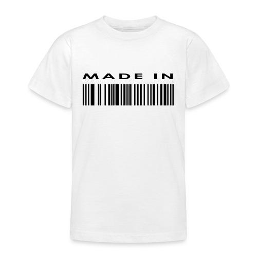 Tee shirt CODE BARRE - T-shirt Ado