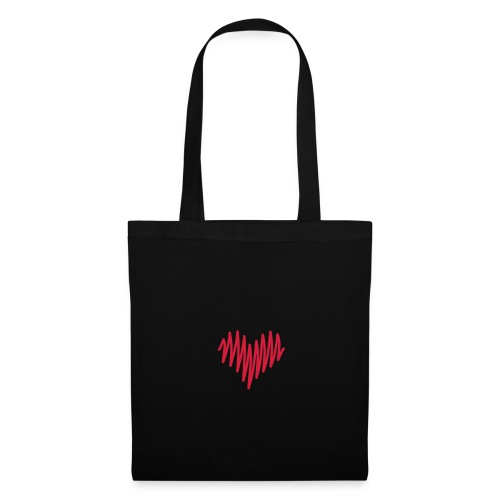 Blk Heart Bag - Tote Bag