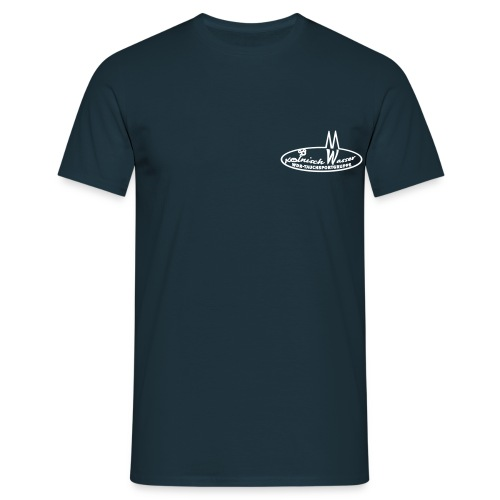 Männer T-Shirt - Navy, Flockdruck weiß