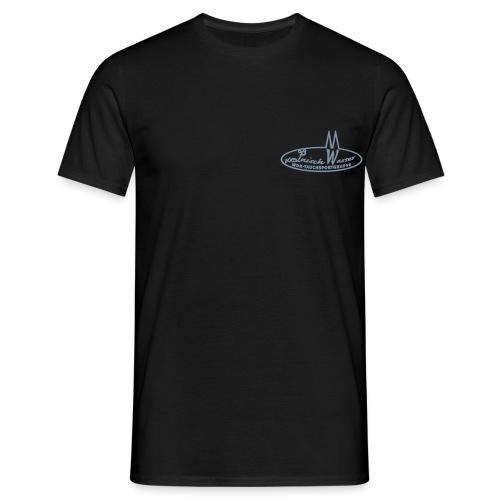 Männer T-Shirt - Schwarz, Flexdruck Silber matt