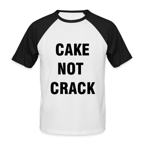 unisex short sleeve 'cake not crack' - Men's Baseball T-Shirt
