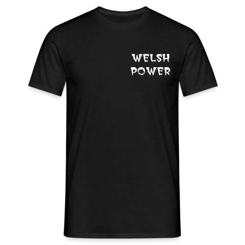 Welsh Power t-shirt: Front and Rear logos - Men's T-Shirt