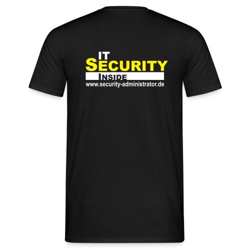 IT Security Inside Black - Männer T-Shirt