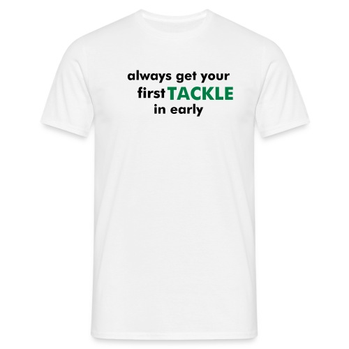 TACKLE T - White/Black/Green - Men's T-Shirt