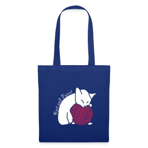 Tote Bag - katzen,stricken,wolle