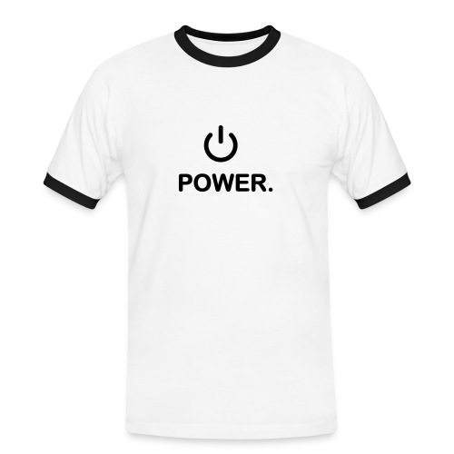 Power - Männer Kontrast-T-Shirt