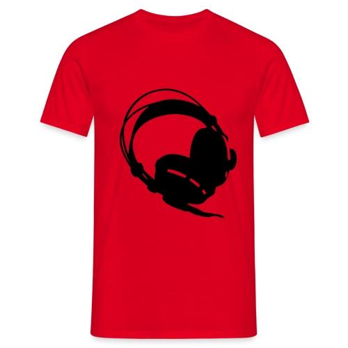 koptelefoon rood - Mannen T-shirt