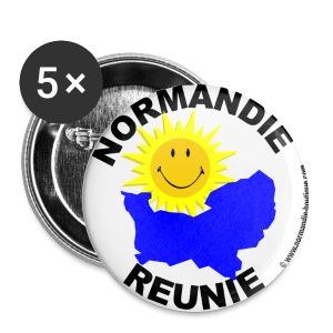 5 badges Normandie Réunie - Badge moyen 32 mm
