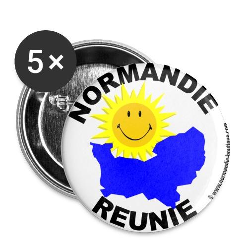 5 badges Normandie Réunie - Lot de 5 moyens badges (32 mm)