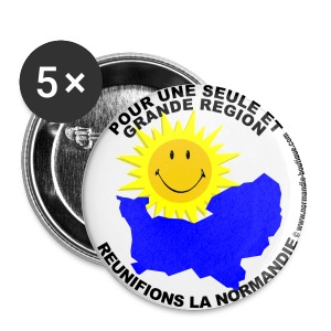 5 badges Pour une seule Normandie - Badge moyen 32 mm
