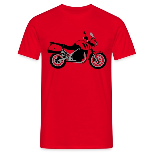 Tiger 955i With Panniers (Red) - Men's T-Shirt