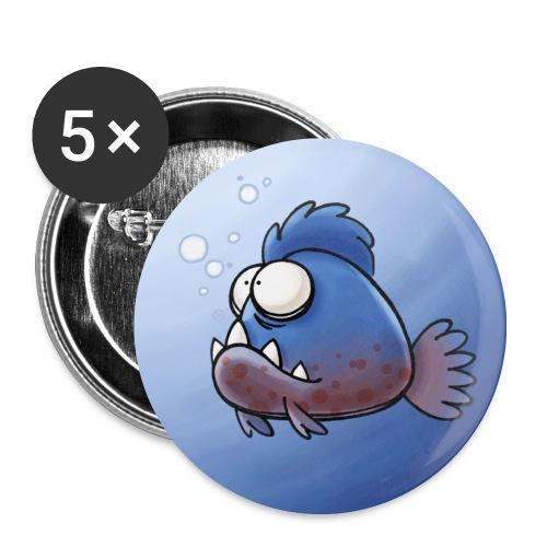 Buttons Piranha (5 St.) - Buttons mittel 32 mm