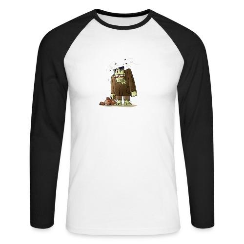 Männer-Sweater Monster weiß - Männer Baseballshirt langarm