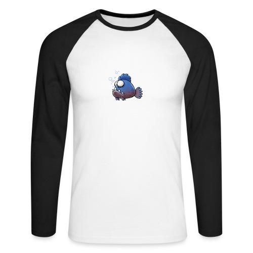 Männer-Sweater Piranha weiß - Männer Baseballshirt langarm
