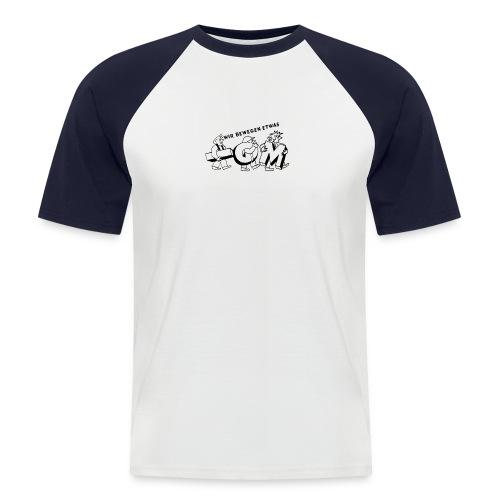 Wir bewegen was Shirt - Männer Baseball-T-Shirt