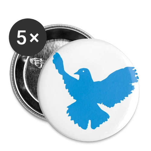 Button Taube - Buttons klein 25 mm (5er Pack)