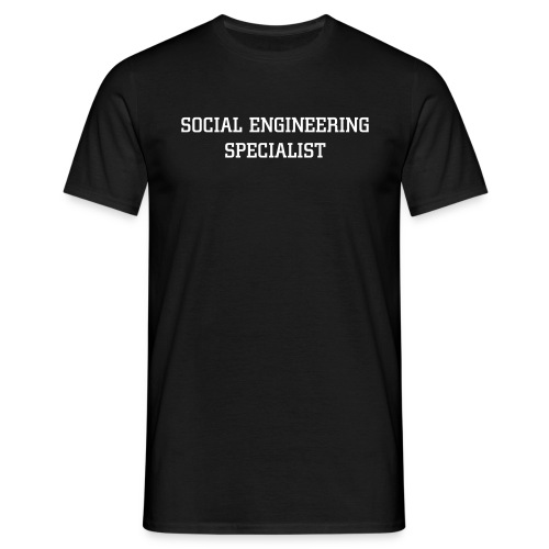 Social Engineering T-Shirt - Männer T-Shirt