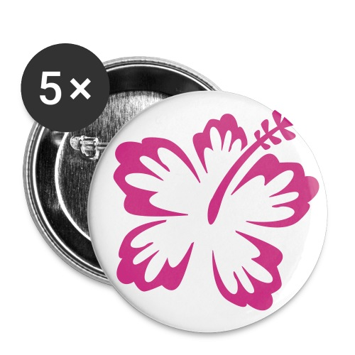 Hibiscus-Button - Buttons mittel 32 mm (5er Pack)