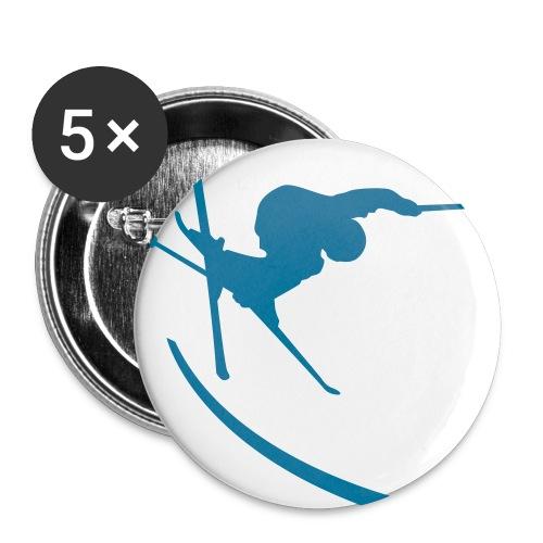 großer Ski-Button - Buttons groß 56 mm (5er Pack)