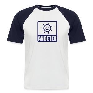 Kurzarm Shirt Sonnenanbeter - Männer Baseball-T-Shirt