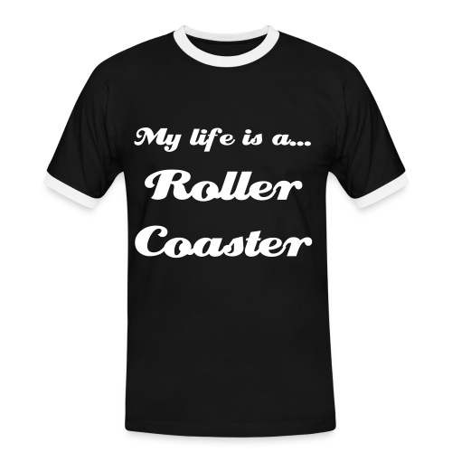 My life is a... Roller Coaster - Camiseta contraste hombre