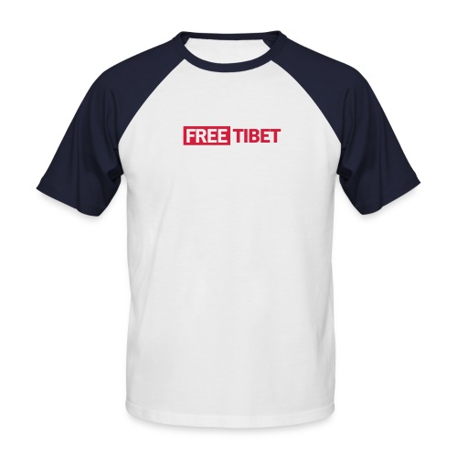Free Tibet - Männer Baseball-T-Shirt