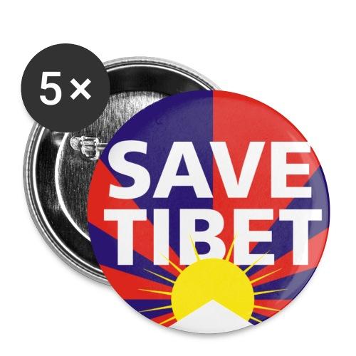 Save Tibet Button - Buttons klein 25 mm (5er Pack)