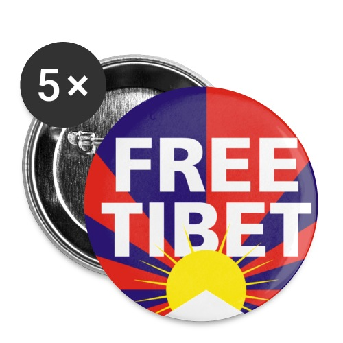 Free Tibet Button - Buttons klein 25 mm (5er Pack)