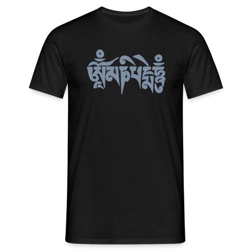 om mani padme hum SILBER - Männer T-Shirt