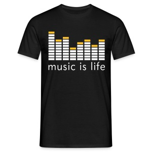 The music is life - Camiseta hombre