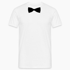 White Bow Tie Men's Tees (short-sleeved)