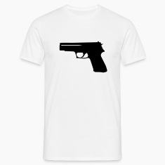 White Gun Men's Tees (short-sleeved)
