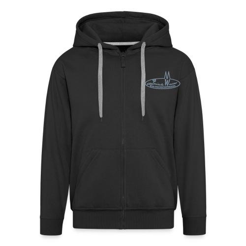 Männer Premium Kapuzenjacke - schwarzes Kapuzenshirt, Flexdruck Silber matt